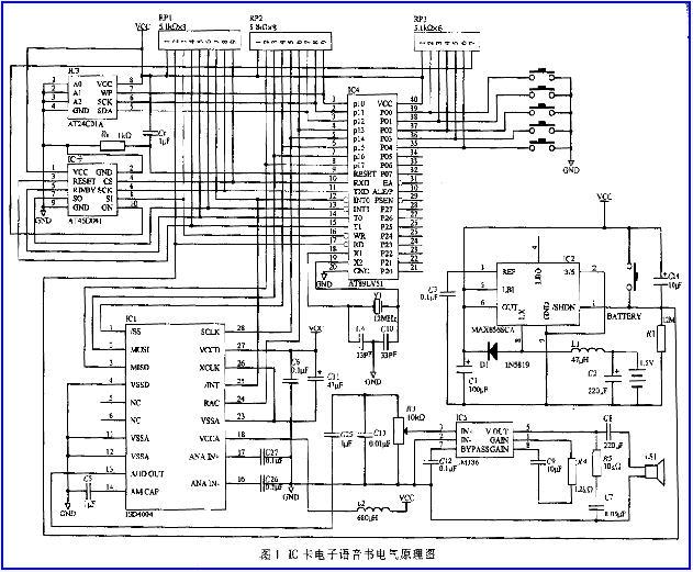 最后,cpu再按此编码控制isd单片语音录放电路,播放出相应的语音.