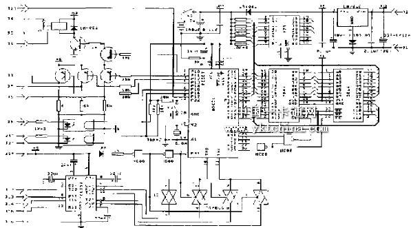 门禁控制器电路原理图